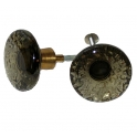 Glasknopp Rökfärgad 1960-1970-tal