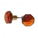 Glasknopp Orange 1960-1970-tal