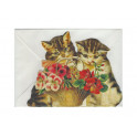 Kort Utvikbart Katter med blomsterkorg
