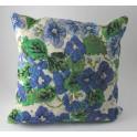 Kudde Blå blommor