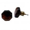 Glasknopp Brun 1960-1970-tal
