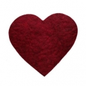 Grytunderlägg Hjärta Vinröd
