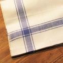 Handduk linne creme/blå