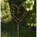 Trädgårdssmycke Kärlek Vi Två Stort Rost