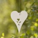 Hjärta XS Transparenta pärlor