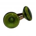 Glasknopp Grön 1960-1970-tal