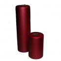 Ljus Blockljus röd metallack 6 x 10 cm