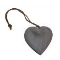 Hjärta av trä Grå