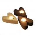 Ljushållare Hjärta brun