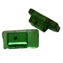 Glasknopp Grön Rektangulär