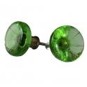 Glasknopp Grön ljus 1960-1970-tal