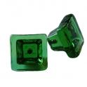 Glasknopp Grön Kvadratisk